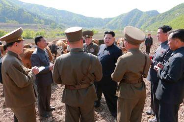 150511 - SK - KIM JONG UN - Genosse KIM JONG UN besuchte die Rinderfarm '18. Juli' - 03 - 경애하는 김정은동지께서 조선인민군 제580군부대산하 7월18일소목장을 현지지도하시였다
