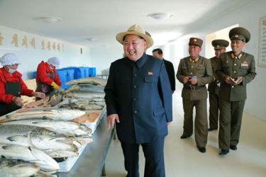 150523 - SK - KIM JONG UN - Marschall KIM JONG UN besichtigte eine Zuchtanstalt für Rassefisch und einen Fischzuchtbetrieb - 28 - 경애하는 김정은동지께서 조선인민군 제810군부대산하 석막대서양연어종어장과 락산바다연어양어사업소를 현지지도하시였다