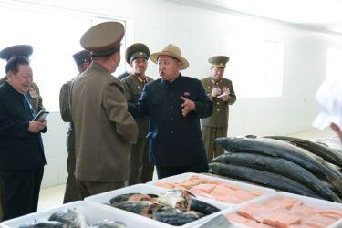 150523 - SK - KIM JONG UN - Marschall KIM JONG UN besichtigte eine Zuchtanstalt für Rassefisch und einen Fischzuchtbetrieb - 29 - 경애하는 김정은동지께서 조선인민군 제810군부대산하 석막대서양연어종어장과 락산바다연어양어사업소를 현지지도하시였다