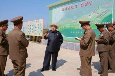 150529 - RS - KIM JONG UN - Marschall KIM JONG UN besuchte die von der Volksarmee neu gestaltete komplexe Baumschule - 02 - 경애하는 김정은동지께서 인민군대에서 새로 꾸리고있는 종합양묘장을 현지지도하시였다