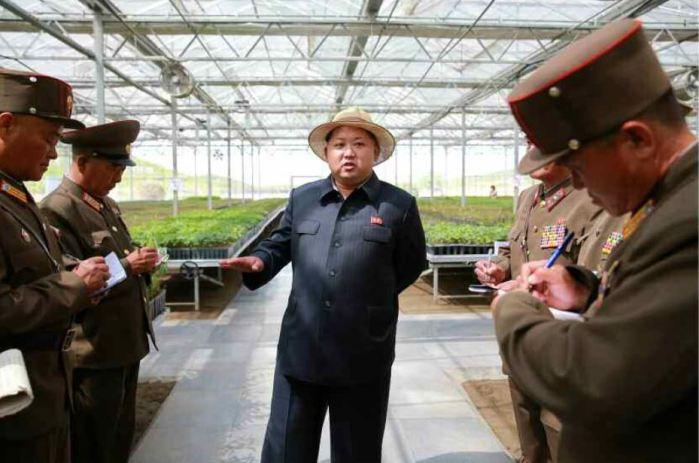 150529 - RS - KIM JONG UN - Marschall KIM JONG UN besuchte die von der Volksarmee neu gestaltete komplexe Baumschule - 06 - 경애하는 김정은동지께서 인민군대에서 새로 꾸리고있는 종합양묘장을 현지지도하시였다