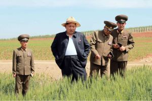 150601 - RS -  KIM JONG UN - Marschall KIM JONG UN besichtigte den Landwirtschaftsbetrieb Nr. 1116 der 810. Truppe der KVA - 01 -경애하는 김정은동지께서 조선인민군 제810군부대산하 1116호농장을 현지지도하시였다