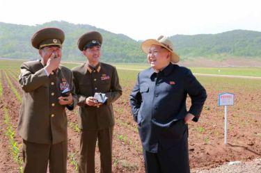 150601 - RS -  KIM JONG UN - Marschall KIM JONG UN besichtigte den Landwirtschaftsbetrieb Nr. 1116 der 810. Truppe der KVA - 06 -경애하는 김정은동지께서 조선인민군 제810군부대산하 1116호농장을 현지지도하시였다