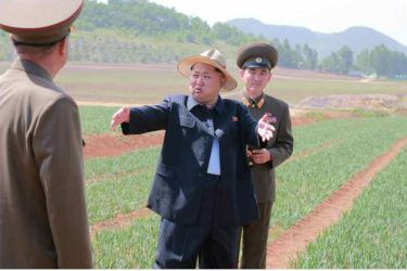 150601 - RS -  KIM JONG UN - Marschall KIM JONG UN besichtigte den Landwirtschaftsbetrieb Nr. 1116 der 810. Truppe der KVA - 07 -경애하는 김정은동지께서 조선인민군 제810군부대산하 1116호농장을 현지지도하시였다
