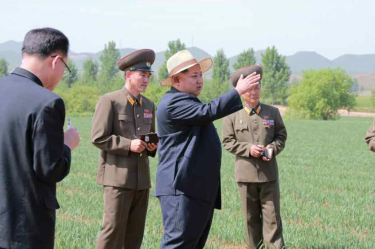 150601 - RS -  KIM JONG UN - Marschall KIM JONG UN besichtigte den Landwirtschaftsbetrieb Nr. 1116 der 810. Truppe der KVA - 08 -경애하는 김정은동지께서 조선인민군 제810군부대산하 1116호농장을 현지지도하시였다