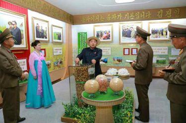 150601 - RS -  KIM JONG UN - Marschall KIM JONG UN besichtigte den Landwirtschaftsbetrieb Nr. 1116 der 810. Truppe der KVA - 14 -경애하는 김정은동지께서 조선인민군 제810군부대산하 1116호농장을 현지지도하시였다