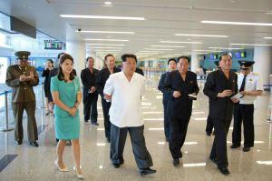 150625 - RS - KIM JONG UN - Marschall KIM JONG UN besichtigte den fertiggestellten Terminal des Internationalen Flughafens Pyongyang - 01 - 경애하는 김정은동지께서 완공된 평양국제비행장 항공역사를 현지지도하시였다
