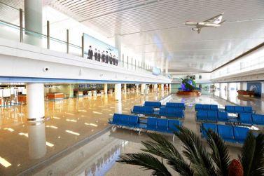 150625 - SK - KIM JONG UN - Marschall KIM JONG UN besichtigte den fertiggestellten Terminal des Internationalen Flughafens Pyongyang - 03 - 경애하는 김정은동지께서 완공된 평양국제비행장 항공역사를 현지지도하시였다