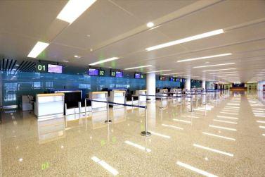 150625 - SK - KIM JONG UN - Marschall KIM JONG UN besichtigte den fertiggestellten Terminal des Internationalen Flughafens Pyongyang - 08 - 경애하는 김정은동지께서 완공된 평양국제비행장 항공역사를 현지지도하시였다