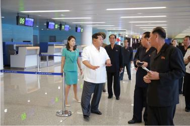 150625 - SK - KIM JONG UN - Marschall KIM JONG UN besichtigte den fertiggestellten Terminal des Internationalen Flughafens Pyongyang - 09 - 경애하는 김정은동지께서 완공된 평양국제비행장 항공역사를 현지지도하시였다
