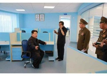150703 - RS - KIM JONG UN - Marschall KIM JONG UN besichtigte das neu gebaute Institut für Automatisierung an der TU 'Kim Chaek' - 04 - 경애하는 김정은동지께서 새로 건설한 김책공업종합대학 자동화연구소를 현지지도하시였다