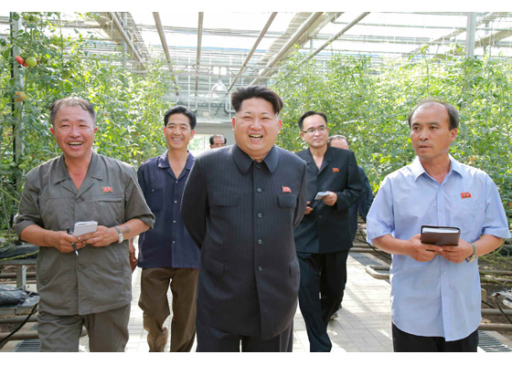 150707 - RS - KIM JONG UN - Marschall KIM JONG UN besichtigte das Wissenschaftliche Institut für Gemüse Pyongyang - 01 - 경애하는 김정은동지께서 평양남새과학연구소를 현지지도하시였다