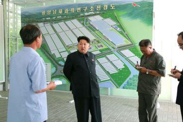 150707 - SK - KIM JONG UN - Marschall KIM JONG UN besichtigte das Wissenschaftliche Institut für Gemüse Pyongyang - 01 - 경애하는 김정은동지께서 평양남새과학연구소를 현지지도하시였다