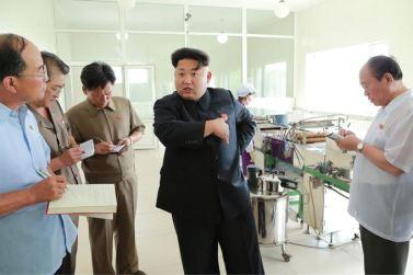 150711 - SK - KIM JONG UN - Marschall KIM JONG UN besichtigte die Verarbeitungsfabrik für Seetang Taegyong in Pyongyang - 01 - 경애하는 김정은동지께서 평양대경김가공공장을 현지지도하시였다