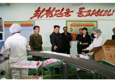 150714 - RS - Marschall KIM JONG UN besuchte die Toilettenartikelfabrik Ragnang - 04 - 경애하는 김정은동지께서 락랑위생용품공장을 현지지도하시였다