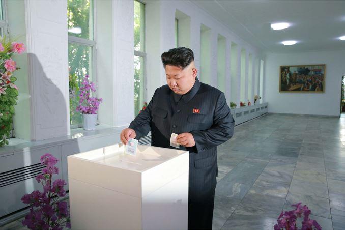 150720 - SK - KIM JONG UN - Genosse KIM JONG UN nahm an den Kommunalwahlen teil - 01 - 경애하는 김정은동지께서 도, 시, 군인민회의 대의원선거에 참가하시였다