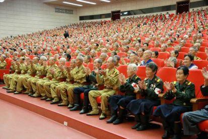 150726 - SK - KIM JONG UN - Das feierliche 4. Landestreffen der Kriegsveteranen in Anwesenheit vom Marschall KIM JONG UN - 12 - 경애하는 김정은동지께서 제4차 전국로병대회에서 하신 축하연설