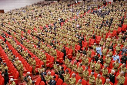 150726 - SK - KIM JONG UN - Das feierliche 4. Landestreffen der Kriegsveteranen in Anwesenheit vom Marschall KIM JONG UN - 22 - 경애하는 김정은동지께서 제4차 전국로병대회에서 하신 축하연설