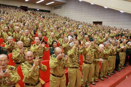 150726 - SK - KIM JONG UN - Das feierliche 4. Landestreffen der Kriegsveteranen in Anwesenheit vom Marschall KIM JONG UN - 24 - 경애하는 김정은동지께서 제4차 전국로병대회에서 하신 축하연설