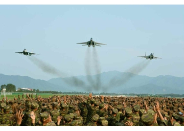 150730 - RS - KIM JONG UN - 10 - 경애하는 김정은동지께서 위대한 조국해방전쟁승리 62돐을 맞으며 진행된 《조선인민군 항공 및 반항공군 비행지휘성원들의 전투비행술경기대회-2015》를 지도하시였다