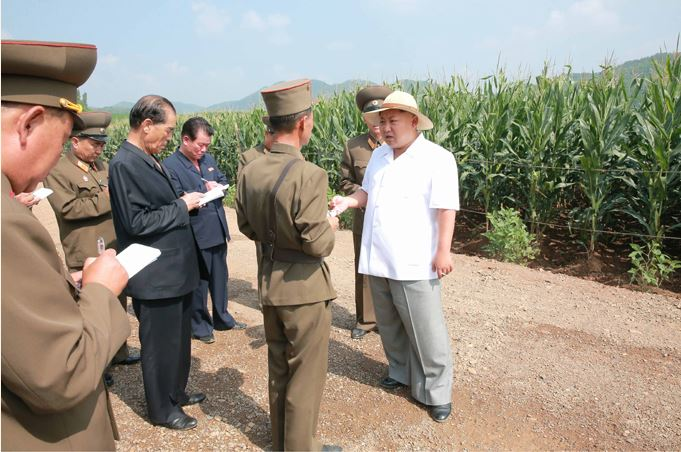 150813 - SK - KIM JONG UN - Marschall KIM JONG UN besichtigte den Landwirtschaftsbetrieb Nr. 1116 der 810. Truppe der KVA - 09 - 경애하는 김정은동지께서 조선인민군 제810군부대산하 1116호농장을 현지지도하시였다