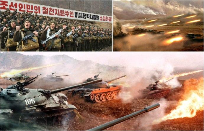 150821 - RS - 조선인민군 최고사령부 긴급보도 - 선군은 승리, 우리의 총대는 자비를 모른다
