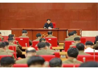 150828 - RS - KIM JONG UN - Marschall KIM JONG UN leitete die erweiterte Sitzung der Zentralen Militärkommission der PdAK - 04 - 조선로동당 제1비서이시며 조선로동당 중앙군사위원회 위원장이신 경애하는 김정은동지의 지도밑에 조선로동당 중앙군사위원회 확대회의가 진행되였다