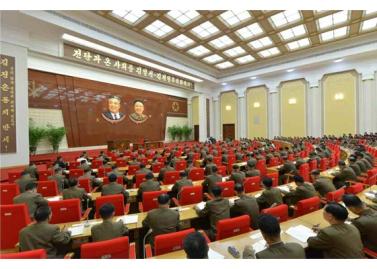 150828 - RS - KIM JONG UN - Marschall KIM JONG UN leitete die erweiterte Sitzung der Zentralen Militärkommission der PdAK - 05 - 조선로동당 제1비서이시며 조선로동당 중앙군사위원회 위원장이신 경애하는 김정은동지의 지도밑에 조선로동당 중앙군사위원회 확대회의가 진행되였다