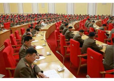 150828 - RS - KIM JONG UN - Marschall KIM JONG UN leitete die erweiterte Sitzung der Zentralen Militärkommission der PdAK - 06 - 조선로동당 제1비서이시며 조선로동당 중앙군사위원회 위원장이신 경애하는 김정은동지의 지도밑에 조선로동당 중앙군사위원회 확대회의가 진행되였다