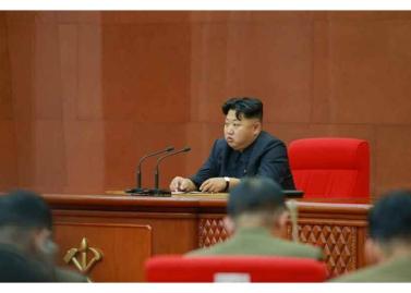 150828 - RS - KIM JONG UN - Marschall KIM JONG UN leitete die erweiterte Sitzung der Zentralen Militärkommission der PdAK - 07 - 조선로동당 제1비서이시며 조선로동당 중앙군사위원회 위원장이신 경애하는 김정은동지의 지도밑에 조선로동당 중앙군사위원회 확대회의가 진행되였다