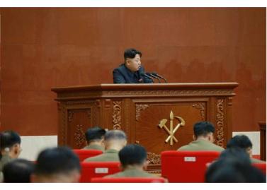150828 - RS - KIM JONG UN - Marschall KIM JONG UN leitete die erweiterte Sitzung der Zentralen Militärkommission der PdAK - 12 - 조선로동당 제1비서이시며 조선로동당 중앙군사위원회 위원장이신 경애하는 김정은동지의 지도밑에 조선로동당 중앙군사위원회 확대회의가 진행되였다