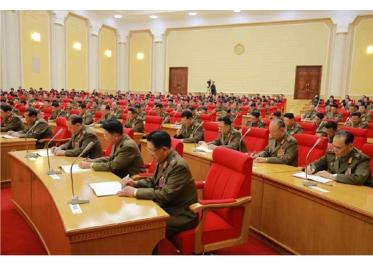150828 - RS - KIM JONG UN - Marschall KIM JONG UN leitete die erweiterte Sitzung der Zentralen Militärkommission der PdAK - 13 - 조선로동당 제1비서이시며 조선로동당 중앙군사위원회 위원장이신 경애하는 김정은동지의 지도밑에 조선로동당 중앙군사위원회 확대회의가 진행되였다