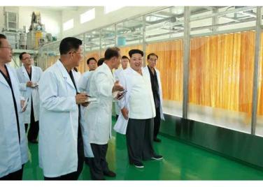 150901 - RS - KIM JONG UN - Marschall KIM JONG UN besichtigte das neugebaute Maisverarbeitungswerk Pyongyang - 04 - 경애하는 김정은동지께서 새로 건설한 평양강냉이가공공장을 현지지도하시였다