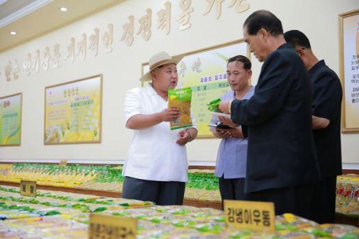 150901 - SK - KIM JONG UN - Marschall KIM JONG UN besichtigte das neugebaute Maisverarbeitungswerk Pyongyang - 08 - 경애하는 김정은동지께서 새로 건설한 평양강냉이가공공장을 현지지도하시였다