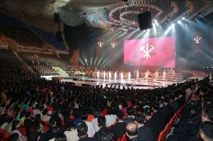 151019 - SK - KIM JONG UN - Marschall KIM JONG UN besuchte ein gemeinsames Konzert des Verdienten Staatlichen Chorensembles und der Moranbong Band - 06 - 경애하는 김정은동지께서 조선로동당창건 70돐경축 공훈국가합창단과 모란봉악단의 합동공연을 관람하시였다