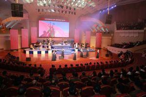 151019 - SK - KIM JONG UN - Marschall KIM JONG UN schaute einem Konzert des Chongbong-Ensembles zu - 07 - 경애하는 김정은동지께서 조선로동당창건 70돐경축 청봉악단의 공연을 관람하시였다