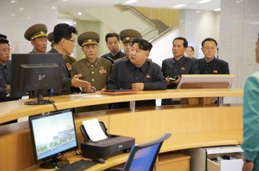 151028 - 조선의 오늘 - KIM JONG UN - Marschall KIM JONG UN besuchte den ausgezeichnet fertig gebauten Palast der Wissenschaft und Technik - 05 - 위대한 당의 전민과학기술인재화방침이 완벽하게 반영된 국보적인 건축물 경애하는 김정은동지께서 과학기술전당을 현지지도하시였다