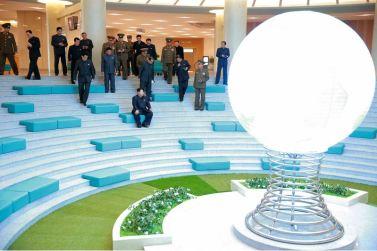 151028 - 조선의 오늘 - KIM JONG UN - Marschall KIM JONG UN besuchte den ausgezeichnet fertig gebauten Palast der Wissenschaft und Technik - 06 - 위대한 당의 전민과학기술인재화방침이 완벽하게 반영된 국보적인 건축물 경애하는 김정은동지께서 과학기술전당을 현지지도하시였다