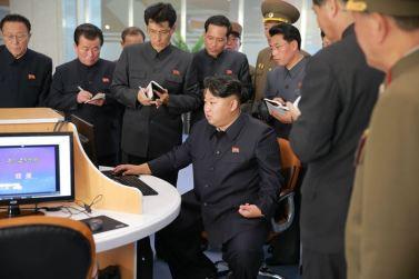 151028 - 조선의 오늘 - KIM JONG UN - Marschall KIM JONG UN besuchte den ausgezeichnet fertig gebauten Palast der Wissenschaft und Technik - 09 - 위대한 당의 전민과학기술인재화방침이 완벽하게 반영된 국보적인 건축물 경애하는 김정은동지께서 과학기술전당을 현지지도하시였다