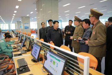 151028 - 조선의 오늘 - KIM JONG UN - Marschall KIM JONG UN besuchte den ausgezeichnet fertig gebauten Palast der Wissenschaft und Technik - 12 - 위대한 당의 전민과학기술인재화방침이 완벽하게 반영된 국보적인 건축물 경애하는 김정은동지께서 과학기술전당을 현지지도하시였다