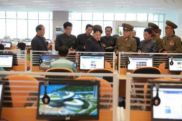 151028 - 조선의 오늘 - KIM JONG UN - Marschall KIM JONG UN besuchte den ausgezeichnet fertig gebauten Palast der Wissenschaft und Technik - 13 - 위대한 당의 전민과학기술인재화방침이 완벽하게 반영된 국보적인 건축물 경애하는 김정은동지께서 과학기술전당을 현지지도하시였다