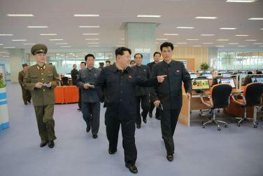 151028 - 조선의 오늘 - KIM JONG UN - Marschall KIM JONG UN besuchte den ausgezeichnet fertig gebauten Palast der Wissenschaft und Technik - 14 - 위대한 당의 전민과학기술인재화방침이 완벽하게 반영된 국보적인 건축물 경애하는 김정은동지께서 과학기술전당을 현지지도하시였다