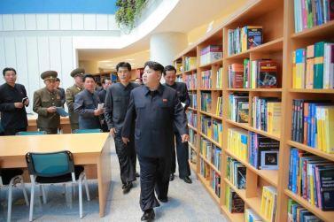 151028 - 조선의 오늘 - KIM JONG UN - Marschall KIM JONG UN besuchte den ausgezeichnet fertig gebauten Palast der Wissenschaft und Technik - 20 - 위대한 당의 전민과학기술인재화방침이 완벽하게 반영된 국보적인 건축물 경애하는 김정은동지께서 과학기술전당을 현지지도하시였다