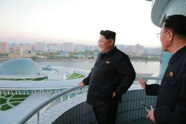 151028 - 조선의 오늘 - KIM JONG UN - Marschall KIM JONG UN besuchte den ausgezeichnet fertig gebauten Palast der Wissenschaft und Technik - 23 - 위대한 당의 전민과학기술인재화방침이 완벽하게 반영된 국보적인 건축물 경애하는 김정은동지께서 과학기술전당을 현지지도하시였다
