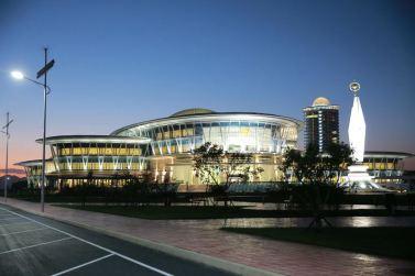 151028 - 조선의 오늘 - KIM JONG UN - Marschall KIM JONG UN besuchte den ausgezeichnet fertig gebauten Palast der Wissenschaft und Technik - 30 - 위대한 당의 전민과학기술인재화방침이 완벽하게 반영된 국보적인 건축물 경애하는 김정은동지께서 과학기술전당을 현지지도하시였다