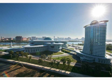 151028 - RS - KIM JONG UN - Marschall KIM JONG UN besuchte den ausgezeichnet fertig gebauten Palast der Wissenschaft und Technik - 04 - 위대한 당의 전민과학기술인재화방침이 완벽하게 반영된 국보적인 건축물 경애하는 김정은동지께서 과학기술강국 현지지도하시였다