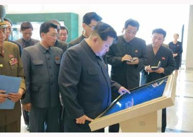 151028 - RS - KIM JONG UN - Marschall KIM JONG UN besuchte den ausgezeichnet fertig gebauten Palast der Wissenschaft und Technik - 12 - 위대한 당의 전민과학기술인재화방침이 완벽하게 반영된 국보적인 건축물 경애하는 김정은동지께서 과학기술강국 현지지도하시였다