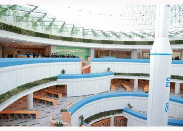 151028 - RS - KIM JONG UN - Marschall KIM JONG UN besuchte den ausgezeichnet fertig gebauten Palast der Wissenschaft und Technik - 13 - 위대한 당의 전민과학기술인재화방침이 완벽하게 반영된 국보적인 건축물 경애하는 김정은동지께서 과학기술강국 현지지도하시였다