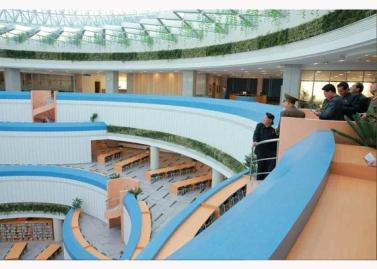 151028 - RS - KIM JONG UN - Marschall KIM JONG UN besuchte den ausgezeichnet fertig gebauten Palast der Wissenschaft und Technik - 20 - 위대한 당의 전민과학기술인재화방침이 완벽하게 반영된 국보적인 건축물 경애하는 김정은동지께서 과학기술강국 현지지도하시였다