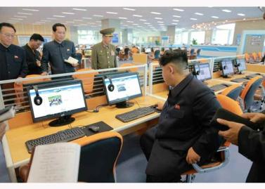 151028 - RS - KIM JONG UN - Marschall KIM JONG UN besuchte den ausgezeichnet fertig gebauten Palast der Wissenschaft und Technik - 24 - 위대한 당의 전민과학기술인재화방침이 완벽하게 반영된 국보적인 건축물 경애하는 김정은동지께서 과학기술강국 현지지도하시였다